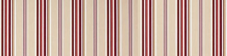 Stores avec toiles Windsor Rouge( largeur en façade 500 cm )