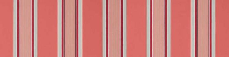 Stores avec toiles Sydney Rose ( largeur en façade 450 cm )