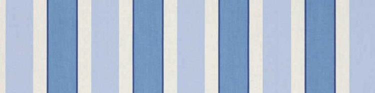 Stores avec toiles Hardelot Bleu ( largeur en façade 600 cm )