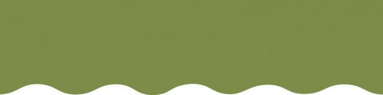 Stores avec toiles Vert Amande ( largeur en façade 350 cm )