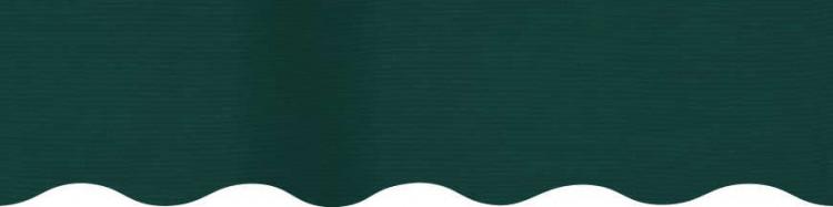 Stores avec toiles Vert Forêt ( largeur en façade 350 cm )