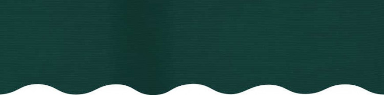 Stores avec toiles Vert Forêt ( largeur en façade 600 cm )