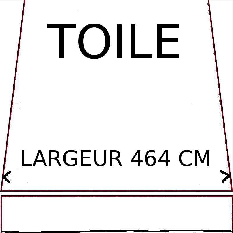 Toiles d'une largeur maximum de 464 cm
