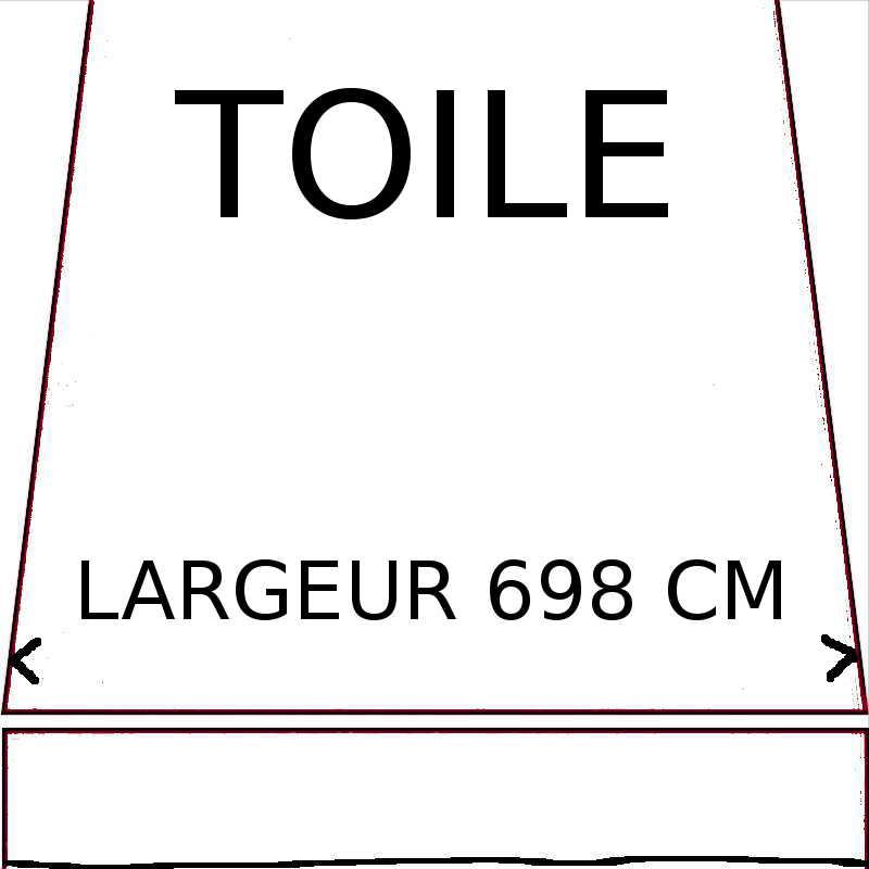 Toiles d'une largeur maximumum de 698 cm