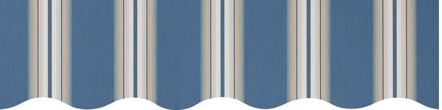 Toile multicouleurs rayée référence BLEU VENEZIA
